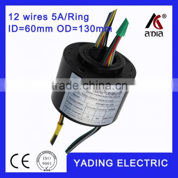 SRH 60130- 12s rotating slip ring ID60mm. OD130mm. 4Wires, 5A 12 wires
