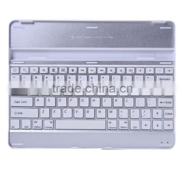 black white Aluminum Bluetooth Wireless Keyboard Case Cover for Apple New iPad 4 3 2+bluetooth wireless keyboard