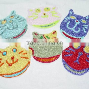 Beaded Coasters,Designer Coasters