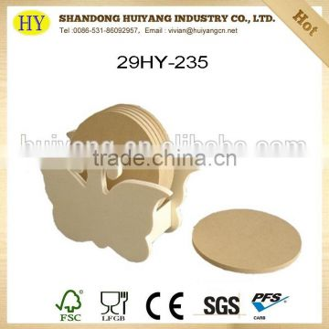 2015 china supplier customized blank MDF coaster