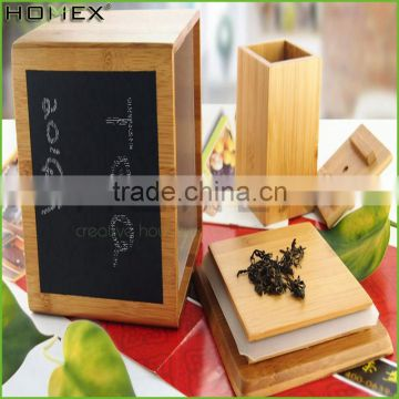 Natural Durable Bamboo Canister With Cork Lid Storage Box/Homex_Factory