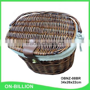 Wicker craft removable bicycle baskets wholesale