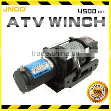 CE approved 4500lbs ATV Winch with synthetic line