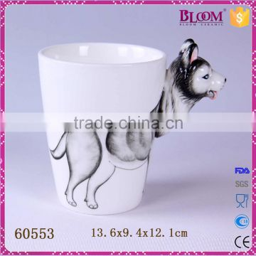Novelty gift handmade animal shape ceramic cup