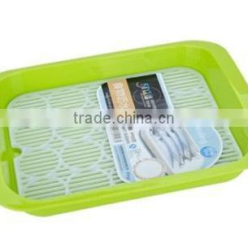 plastic kitchen wash rice bowl with strainer