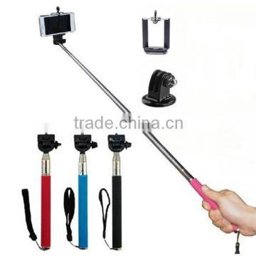 New Extenable Monopod Selfie Stick With Clip Self-Portrait For Mobile Phone