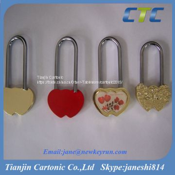 Heart Shaped Love Lock Without Key