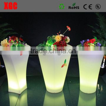 16 colors led bright color decoration cheap flower pots