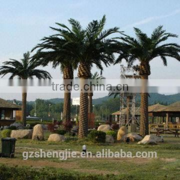artificial large palm tree with steel plate for decoration