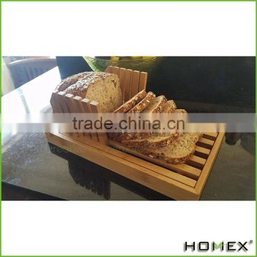 Bamboo Bread Slicer Cutter Guide for Homemade Bread Homex BSCI/Factory