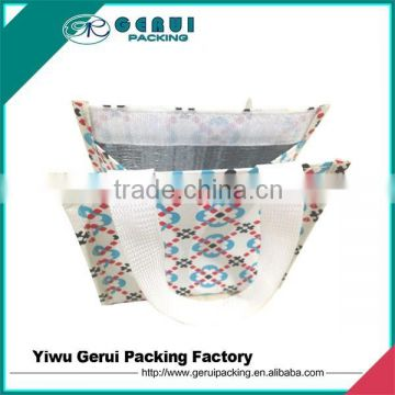 cooler bag with pp woven outer and aluminum foam lining