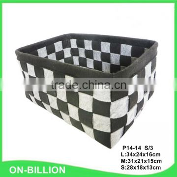 Wholesale woven decorative fancy colored felt storage boxes