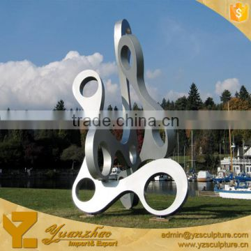 outdoor industrial large metal stainless steel modern art sculpture