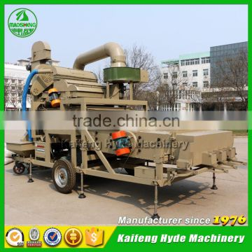 5XZF Mobile combined grain cleaner and grader for Wheat cleaning