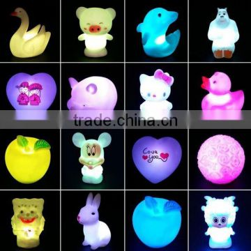 cartoon led vinyl toy for kids,kid animal shape pvc led vincyl toys,custom made cure design vinyl toys
