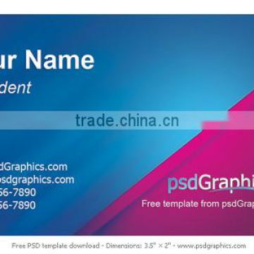 Printed Paper Business Card