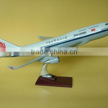 Guohao hot sale custome toy cargo plane; resin pedal plane