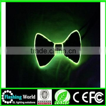 elegant and graceful beautiful in colour light up bow tie in the dark