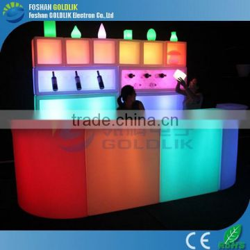 Music Control Illuminated Bar Furniture Set LED Restaurant Bar Counter