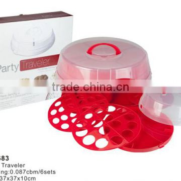 Plastic Party traveler and traveling and serving tray