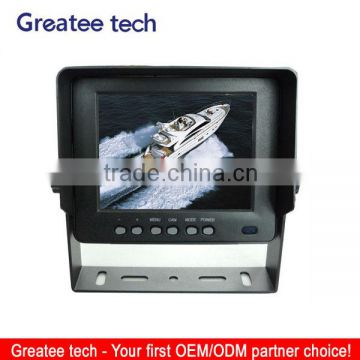 factory best 5 Inch waterproof LCD digital car Monitor with 2CH for fire truck
