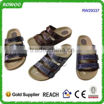 new design Glitter slide sandal with buckle woman