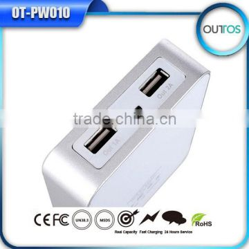 Dual Usb Output Lcd Fast Portable Charging Bank 10400mah Power Bank