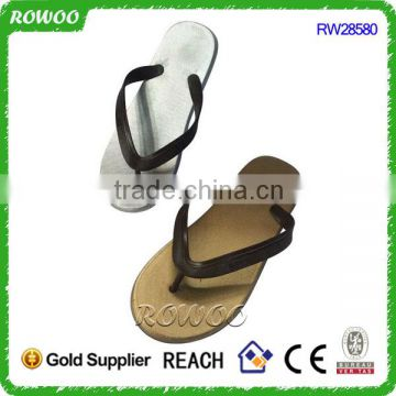Gold and Silver Shiny PVC Summer Beach Men Sandals,Custom Flip flops sandals shoes