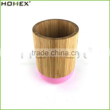 Pained Bamboo Kitchen Utensil Holder Flatware Caddy Homex BSCI/Factory