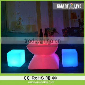 commercial logo stool/led cube/relax chair garden led ball light