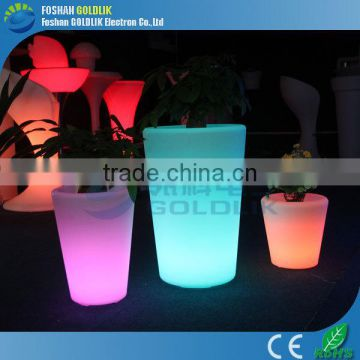 Outdoor Solar Panel Power Color Changing Illuminated Flower Pot LED