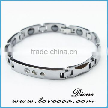 Magnetic bracelet made in japan tungsten power magnetic bracelet