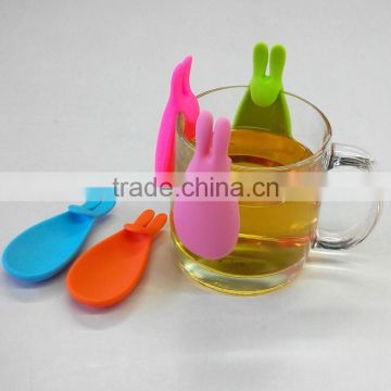 Factory custom promotional gift creative rabbit silicone tea bag holder