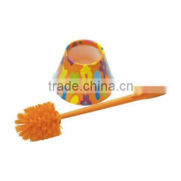 PP printed toilet brush with base