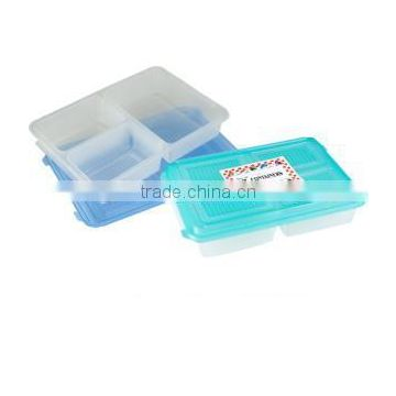 pp food container,pp storage box,3section Rect Food Container