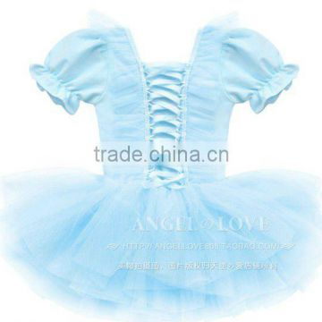Ballet tutu boutique short sleeve baby girls dresses TS1512