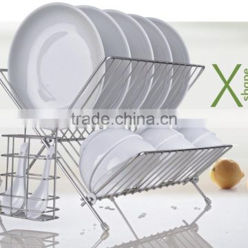 foldable stainless steel kitchen furniture dish dryer shelf