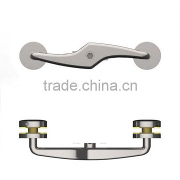 SS/Stainless steel handrail round glass balustrade spider for two sides