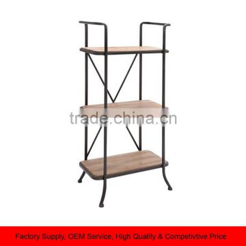 Metal book Storage Shelf 3 Tier Shelf