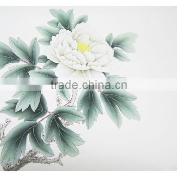 Peony floral wall art painting for home decoration bedroom wall decor