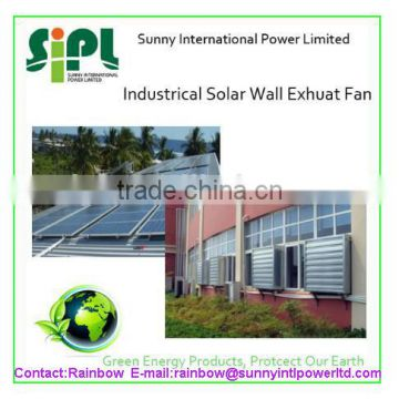 Vent tool Large scale Solar Powered Brushless DC Motor Wall mounted exhaust Fan for Poultry Greenhouse Industrial Ventilatio
