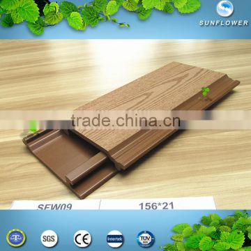 Recycled 100% Outdoor Anti-UV waterproof wpc wallboard