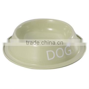 Light Green Dog Cat Pet Bowl Dish Feeder