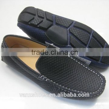 Cool black PU shoes for men.