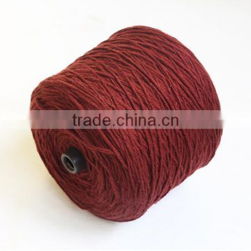 High tenacity dyed 100% anti-pilling bulk acrylic woolen yarn for knitting 1.5nm/1