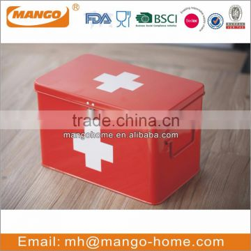 Hot Sale Indoor Colorful Metal First aid medicine box