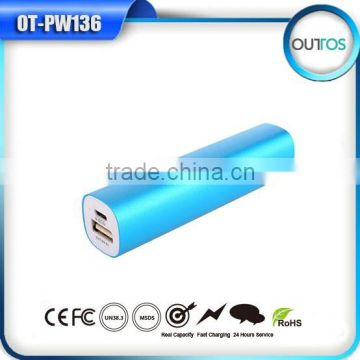 Portable charger power bank 2600mah for mobile phone