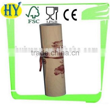 unfinished flexible wooden cylinder box for packing