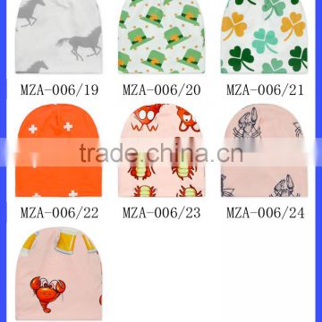 Smart Fox Printing Soft Cotton Newborn Girls Boy Hats Baby Beanies
