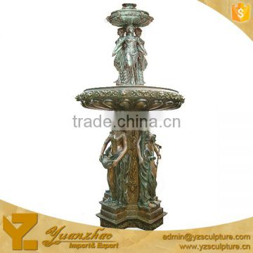 Outdoor Brass Life Size Lady Fountain for garden decoration E050